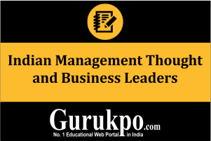 Indian Management Thought and Business Leaders