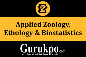 Applied Zoology, Ethology & Biostatistics (Only Study Material)